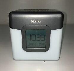 iHome IBT28GC Bluetooth Speaker Color Changing Dual Alarm Clock FM Radio Battery