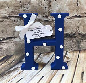 Personalised Handmade Letter Baby Name Birth Nursery Christening Gifts Girl Boy