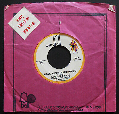 MOUNTAIN ROLL OVER BEETHOVEN - CROSSROADER Original XMAS 45 1970's Leslie West ()