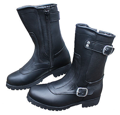 NEW WOMEN'S DIVA  MOTORCYCLE LEATHER BOOTS BEST LADY BOOT ON THE (The Best Motorcycle Boots)