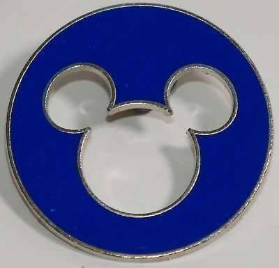 Disney Blue Circle Mickey Mouse Ears Head Cutout Official Pin