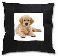 Golden Retriever Cucciolo Di Cane Nera Bordo Raso Cuscino Decorativo Chris, -  - ebay.it