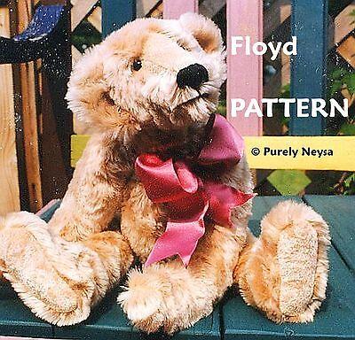 "Mohair  Plush ""Floyd""  a Teddy Bear PATTERN by Neysa A. Phillippi Purely Neysa"