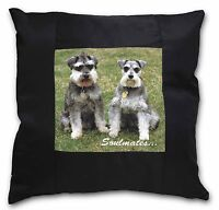 Schnauzer Cani 'anime Gemelle' Nera Bordo Raso Cuscino Decorativo Chris, -  - ebay.it