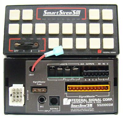 Federal Signal Smart Siren Control Head Ss2000sm Amplifier Police Fire F