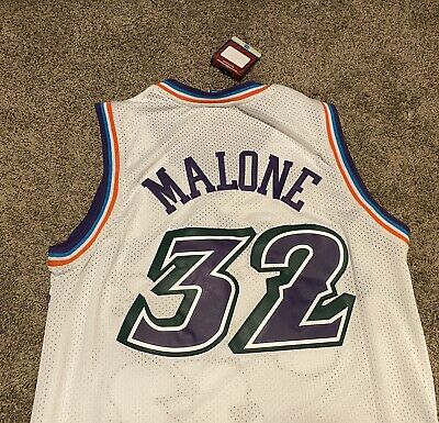NBA UTAH JAZZ ADIDAS KARL MALONE #32 HARDWOOD CLASSICS BASKETBALL JERSEY Sz L