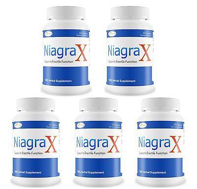 5 Niagrax #1 Masculino Sexual Potenciador Rendimiento Pill Duro Largo Erección