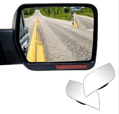 Custom Fit Frameless Blind Spot Mirrors -Convex Glass for Ford F150 (Glass Spot)
