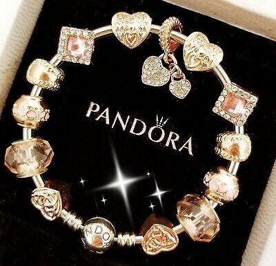 Authentic Pandora Bracelet Silver Bangle with Best Mom European