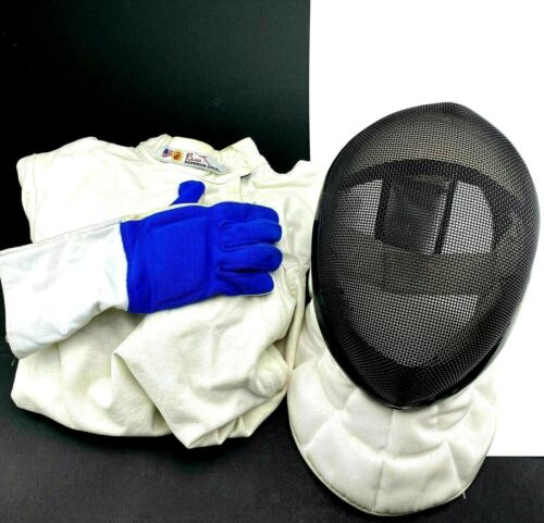 Absolute Fencing Mask Helmet Size Large Blade Fencing Jacket & The Right Glove