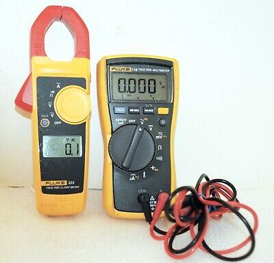 Fluke 116 323 True-rms Acdc Hvac Multimeter True-rms Ac Clamp Meter Combo Kit