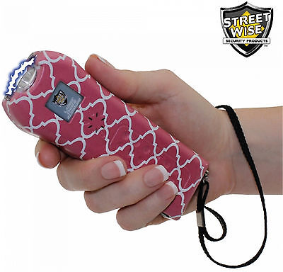 Streetwise Ladies' Choice 21,000,000 volt Stun Gun Pink / White Pattern, 20 Mv