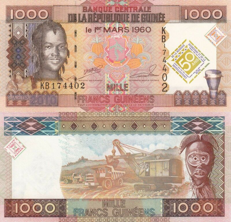 Guinea 1000 Francs (2010) - Girl/Commemorative/p43 UNC