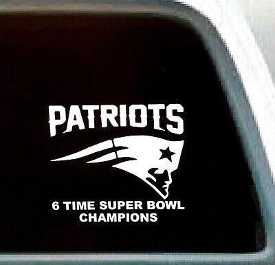 Home Decoration - Patriots 6 Time Super Bowl Champions (single color) vinyl window decal