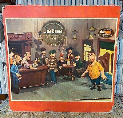 Vintage 1955 Advertising JIM BEAM Card Table Top Bourbon Whiskey Anniversary