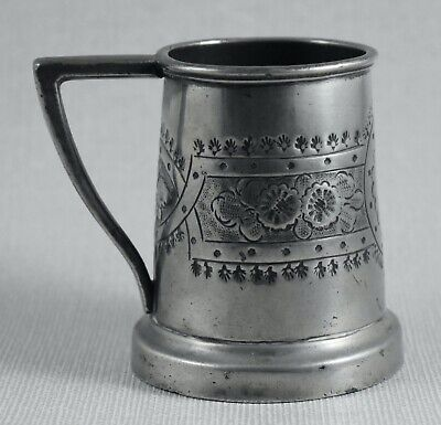 ANTIQUE PEWTER TANKARD CUP