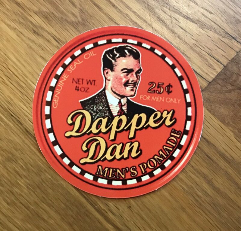 Dapper Dan Logo Vinyl Stickers (2) O Brother Where Art Thou? Coen Brothers Fargo