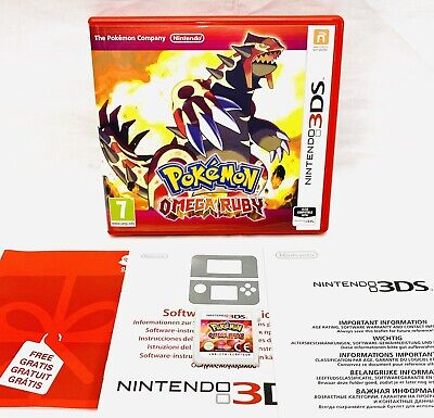 Pokemon Omega Ruby (Nintendo 3DS, 2014) Boxed & Complete PAL VGC