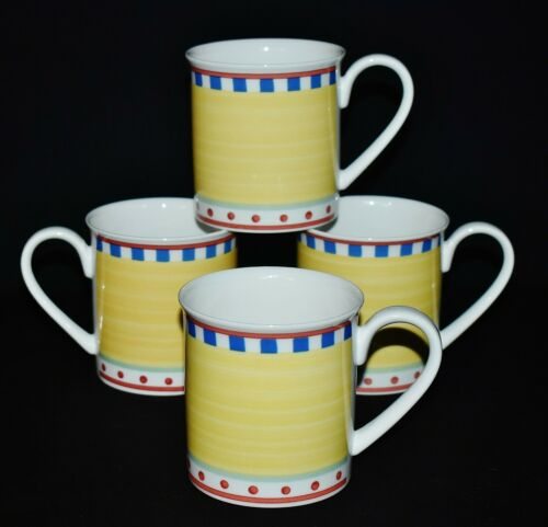 Villeroy & Boch Set Of 4 Twist Bea Fine China Breakfast Cups / Mugs Luxembourg