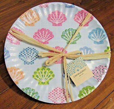 Cynthia Rowley Melamine Seashell Dinner Plates Set of 6  - Seashell Plates