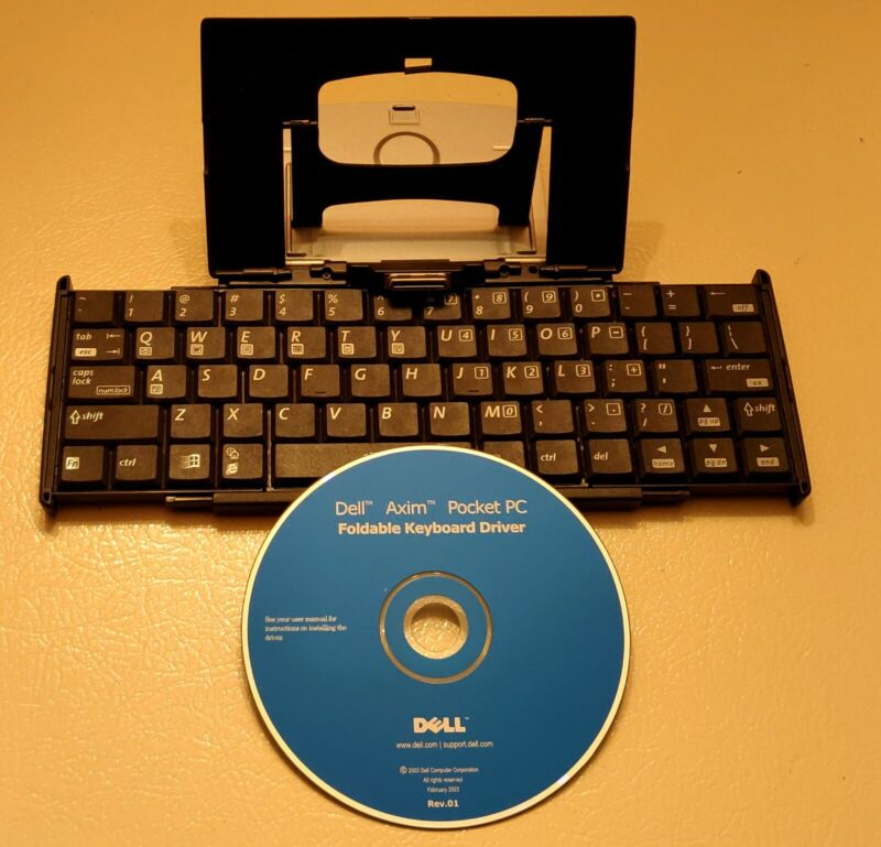 Dell Axim X5 Pocket PC PDA Foldable Keyboard G7L0-001 (OX379) With Driver CD