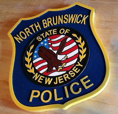 North Brunswick Police Department 3D routed wood patch plaque sign Custom