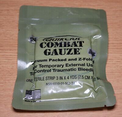 QuikClot Combat Gauze Army USMC Navy IFAK 2022