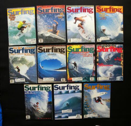 SURFING MAGAZINE 1995 VOL.31  LOT OF 11 ISSUES SURFER LONGBOARDING  HAWAII