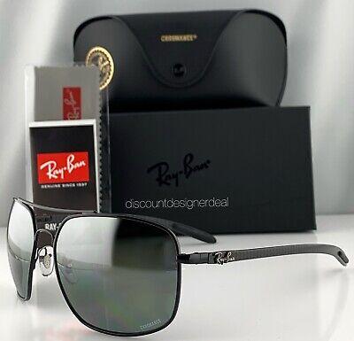 8b30ce7842 Ray-Ban RB8322CH 002 5L Sunglasses Silver Mirror Polarized Chromance Carbon  62mm