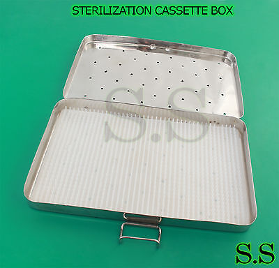Sterilization Cassette Box 8 X 12 With Silicone Pad For Surgical Instruments