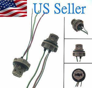 High Quality 7443 Bulb Socket Brake Turn Signal Light Harness Wire LED Pig Tail Plug  7440 T20