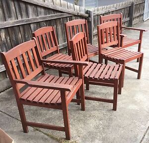 Outside wooden dining chairs St Albans Brimbank Area Preview