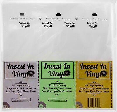 - 50 Master Rice Paper Anti Static LP Inner Sleeves Vinyl Record 33 rpm 12
