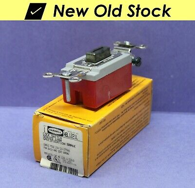Hubbell Single-pole Locking Lock Toggle Switch W Key - 20a 120-277v - Hbl1221l