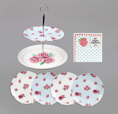 Afternoon Tea Set Cake Stand Party Tableware Napkins Plates Bakeware Baking