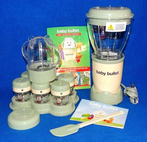 NEW BABY BULLET 20 pc FOOD BLENDER PREPARATION & STORAGE KIT MANUAL AND RECIPES