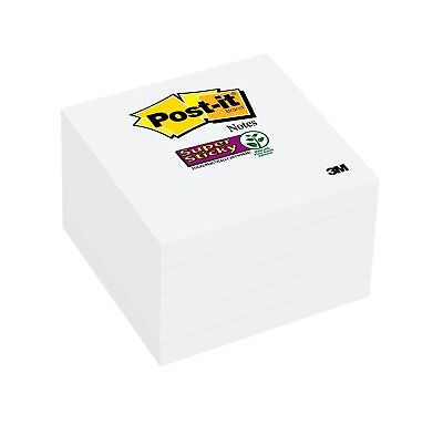 Post-it Super Sticky Notes 2x Sticking Power 3 X 3-inches White 5-padspa...