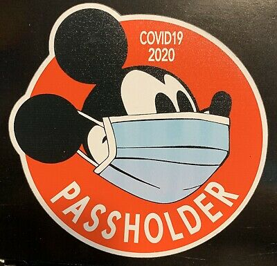 Disney Passholder Mickey Mouse Magnet.  Temporary Closing 2020