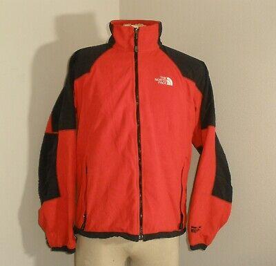 Mens THE NORTH FACE GORE WINDSTOPPER Red Black FLEECE Zip up Jacket Medium