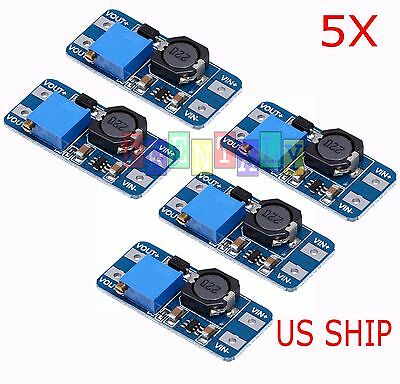 5pcs Mt3608 Dc-dc Step Up Power Booster Module 5v-28v 2a Efficient Board Te686