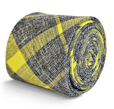 Frederick thomas Designer Lino Cravatta da Uomo - Luminoso Giallo Limone & -
