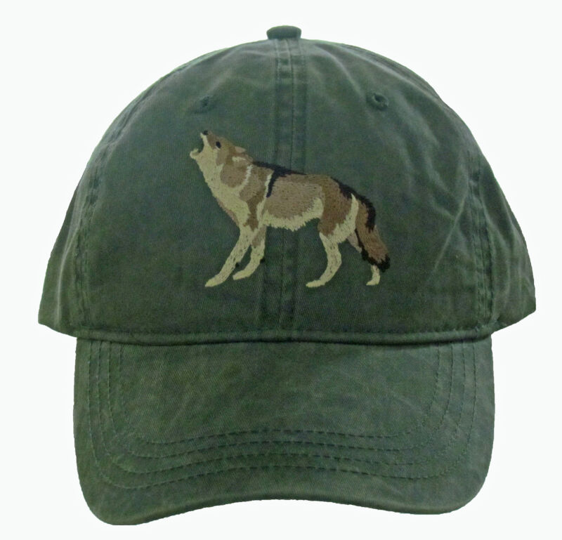 Coyote Embroidered Cotton Cap NEW