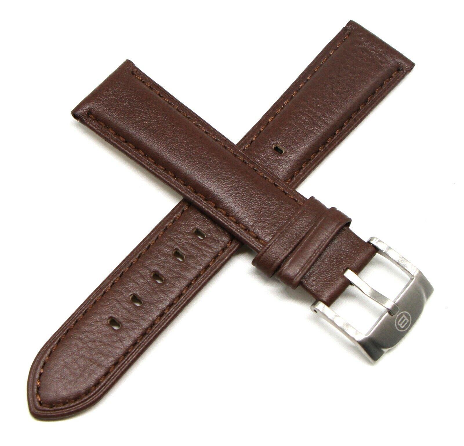 Ben & Sons Armband 22 MM Echtleder Braun für Marshall