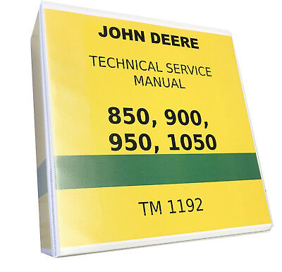 950 John Deere Technical Service Shop Repair Manual 818 Pages