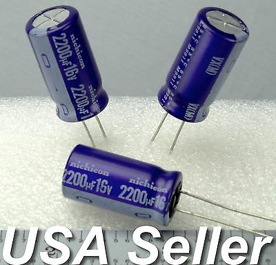 2-5pcs 2200uf 16v Nichicon Japan Vx Series Electrolytic Capacitors Usa Shipping