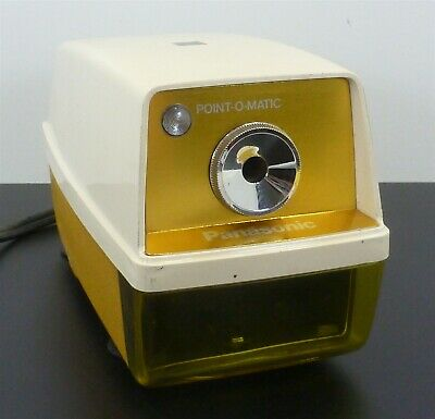 Vintage Panasonic Electric Pencil Sharpener No. Kp-33a Works Great - Yellow