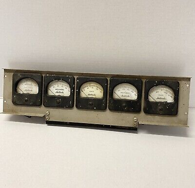 5 Antique Vintage Motorola Panel Mount Volt Milliamperes Meter Steampunk Project