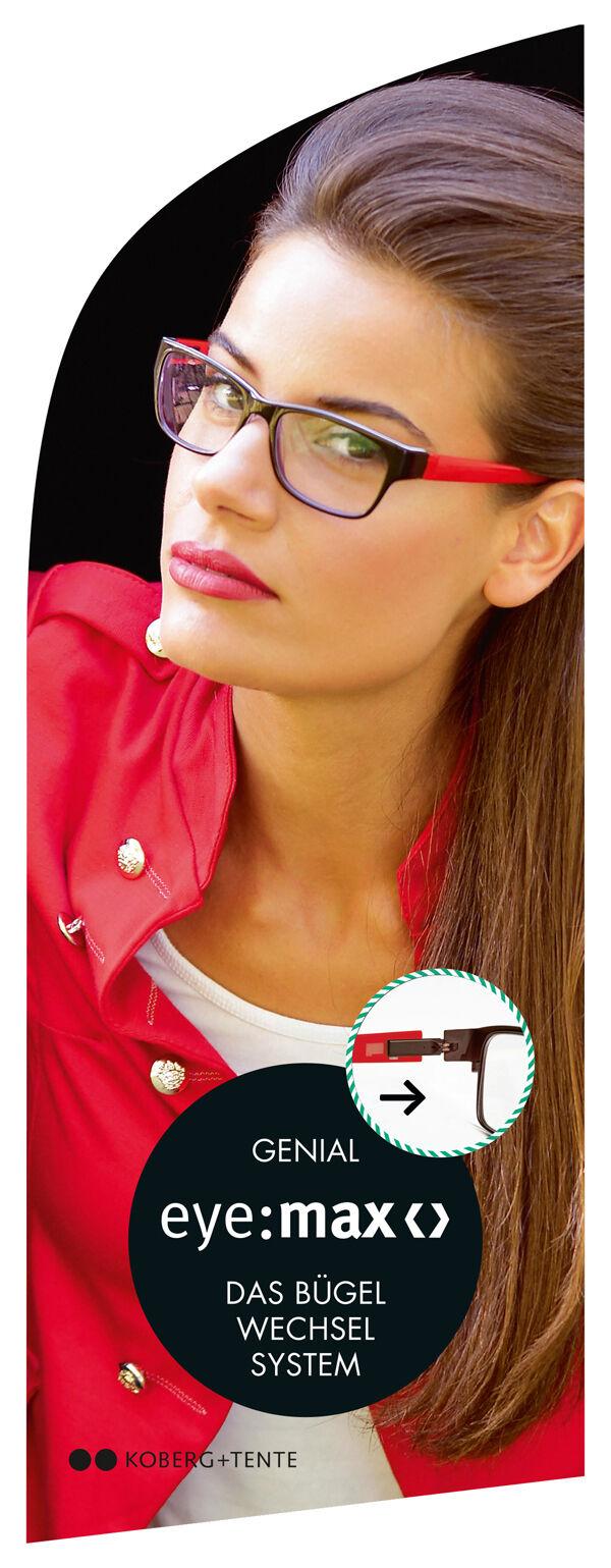 EyeMax Eye Max Wechselbügel 5417 01 Damen Sterne weiß Brillenbügel 1 Paar Neu