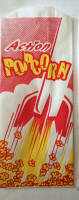 Popcorn Paper Bags Sacks 1 Ounce Concession Carnival Ballparks 200 ea