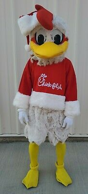 Vintage Professional Chic-Fil-A Christmas Chicken Hard Foam Head Costume Mascot